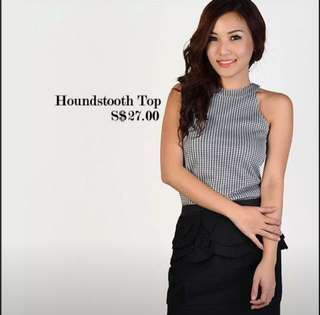 MDS Houndstooth Top #clear