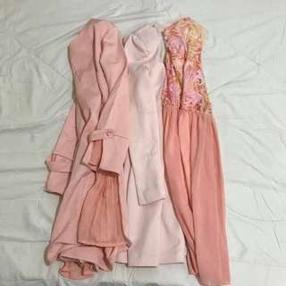 Pastel Dresses Bundle. Sizes S-M. Sold as a Bundle. No Individual Pics Available but ALL ARE IN GOOD CONDITION. No flaws.