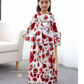 Floral Peplum Dress (1pcs)