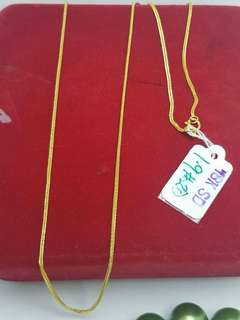 Chain, pendant and earings