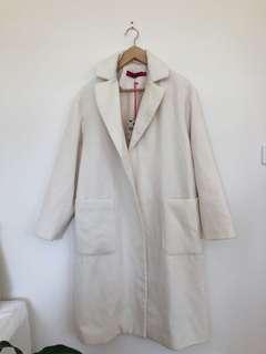 BRAND NEW BOOHOO Cream Winter Coat