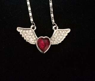 angel wings stainless steel necklace