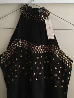 Formal dress - black and gold