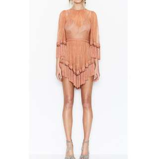 Alice McCall copy - are you ready girl mini playsuit lace tassels Size S/8
