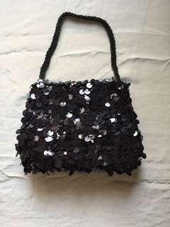 黑色珠片手袋