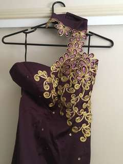 Formal dress - purple and gold