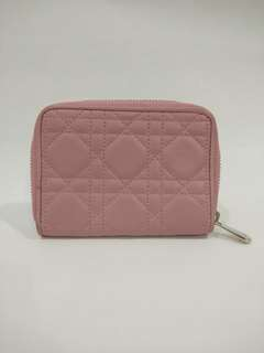 Christian Dior Lady Dior Lamb skin zip purse