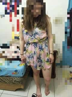 平口伸縮洋裝