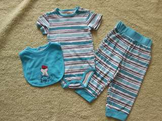 3pcs Boy Romper set