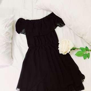 H&M Black Off-Shoulder Dress