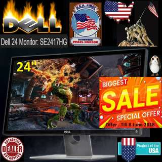 "Dell 24"" Gaming Monitor SE2417HG TN LCD Monitor with 2ms Response Time..( Offer Till 8 June 2018 ) ""Hurry Grab it while Stock Last..."""