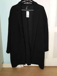 F21 Casual Coat In Black