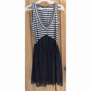 Korean Striped Dress