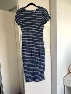 Kookai - Midi Dress - Navy/White