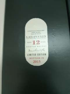 Lagavulin 12 years 2015 CS Islay single malt whisky