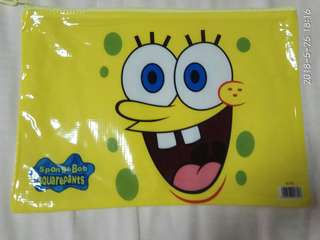 My Sponge Bob A4 zip file/folder/pouch