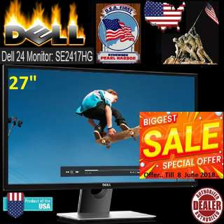 "Dell 27"" SE2717H Monitor ...( Offer. Till.. 8 June 2018 )"