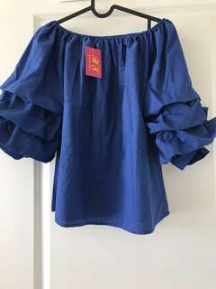 large off shoulder blouse with tag