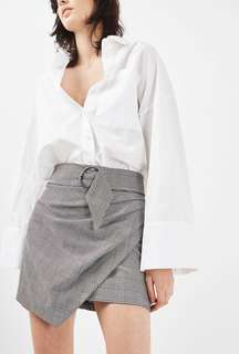 REDUCED! Topshop Wrap Belted Checkered Gingham Skirt