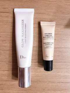 Dior Glow Maximizer & Guerlain Concealer
