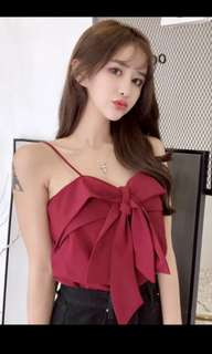 NEW! Red bow spaghetti top
