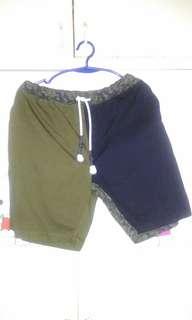 Black Army Green Short