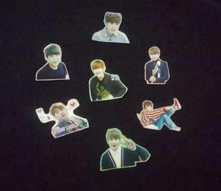 [Postage Free] Wanna One woojin 佑鎮 韓飯製貼紙 stickers × 7粒