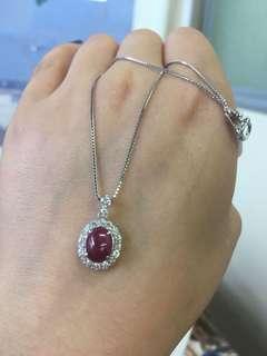 糖果红宝石钻石💎项链