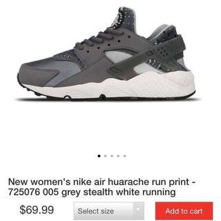 Women's Nike Air Huarache in Grey