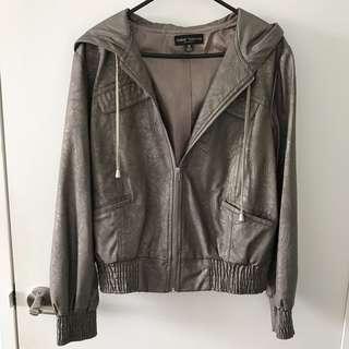 Quality leather-like jacket sz12