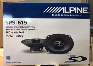ALPINE sps-619 (6x9) 3 WAY SPEAKER