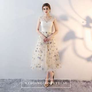 *Brand New* Kessalyn Wedding Bridal Champagne Stars Short Sleeves Gown and Dress