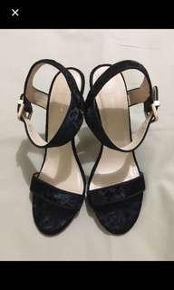 used once. ZALORA velvet sandals