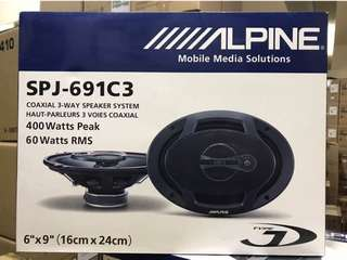 ALPINE spj-691c3 (6x9) 3 WAY SPEAKER