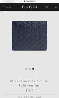 MicroGuccissima bi-fold wallet