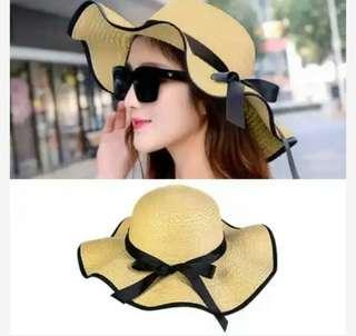 Topi Summer Sun Hat Straw