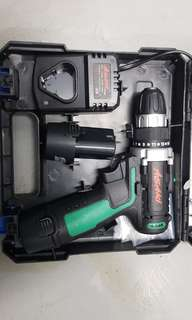 12V Lithium battery and cordless drill set