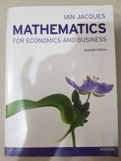 Mathematics For Economics and Business Seventh Edition Original