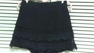 黑色造型短褲裙
