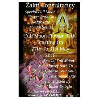 Full Moon Flower Bath Energized By Master Sribala