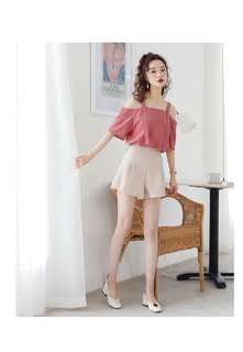<PO> Ring Cold Shoulder Blouse (baabibaby)