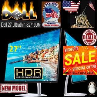 "Dell 27"" S2719DM Ultrathin Monitor 2560 x 1440 at 60 Hz IPS.. ( Offer Till 8 June.. 2018 )"