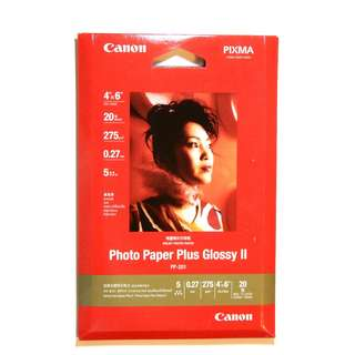 "CANON 相紙 Photo Paper Plus Glossy II (20 sheets 4"" x 6"")"