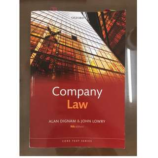 Company Law Textbook Dignam and Lowry