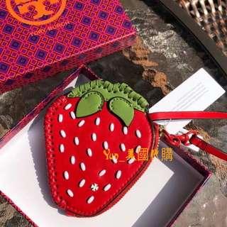【精品代購】TORY BURCH18新款夏季水果系列款零錢包 頭層牛皮+漆皮材質