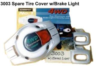 SPARE TYRE COVER WITH BRAKE LIGHT