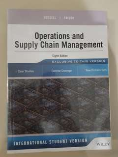 Operations and Supply Chain Management Eighth Edition