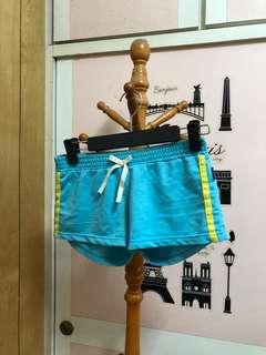 藍色休閒運動短褲熱褲