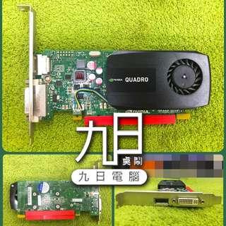 【九日專業二手電腦 】專業繪圖卡nVIDIA Quadro K600 1GB 3D 繪圖卡 桌上型工作站 SMX