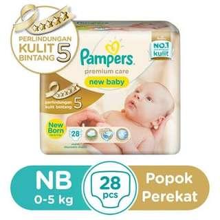 Pampers Premium Care New Baby NB28 Newborn Tape